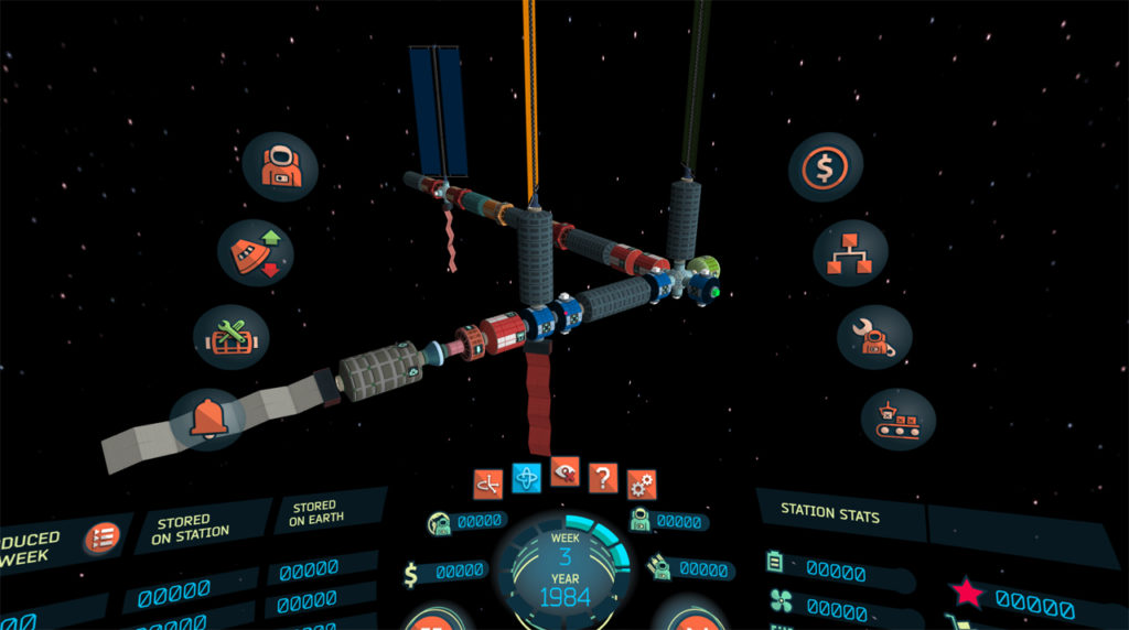 In-game screenshot of the 'High-End Mobile VR' version showing the space station from a different point of view.